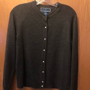 Karen Scott extra small brown long sleeve sweater